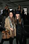 Helo Gomes and Camila Coelho  Attend Mercedes-Benz New York Fashion Week Autumn/Winter 2013 - Catherine Malandrino Presentation Held at Center 548, NY 2/10/13