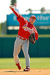 8 March 2006: David Eckstein, infielder for the St. Louis Cardinals, takes some fielding practice prior to a Spring Training game against the Washington Nationals. The Cardinals defeated the Nationals 7-4 in 10 innings at Space Coast Stadium, in Viera, Florida...Mandatory Photo Credit: Ed Wolfstein.