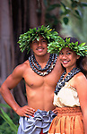 Polynesian Couple, Hula, Hawaii<br />