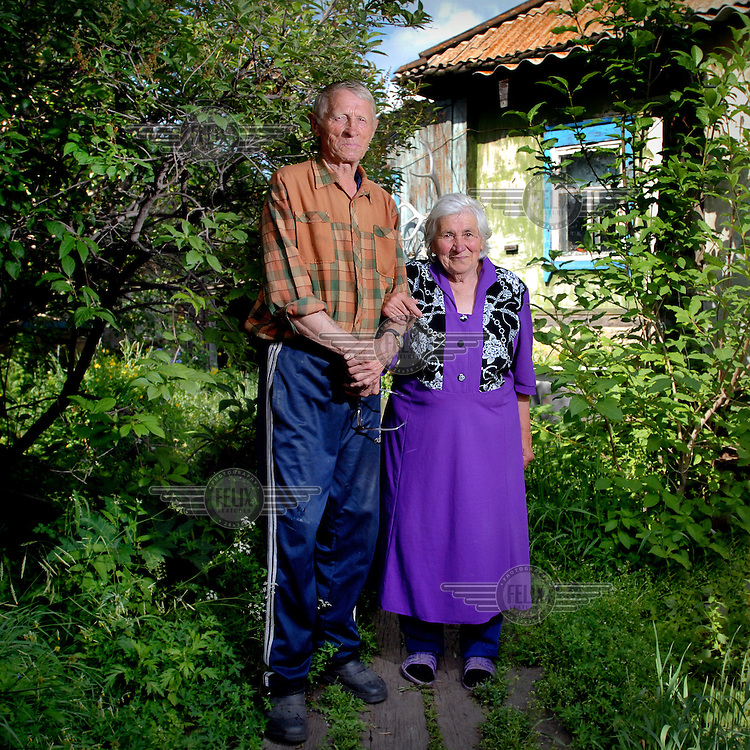 Kim and Maria Azevich, both 83 yrs old, long time residents of the village of Ust-Byur, where many white Russians were exiled in the early 1920s.