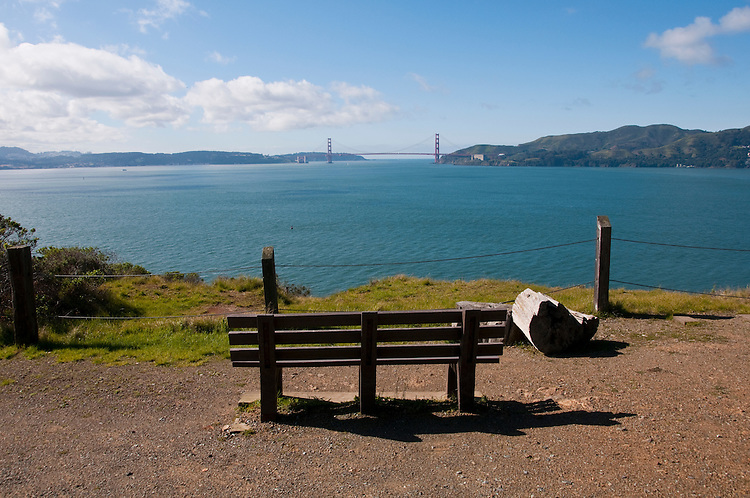 View of Golden Gate Bridge from Angel Island, near San Francisco, California, USA.  Photo copyright Lee Foster.  Photo # california108918
