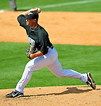 16 March 2009: Florida Marlins' pitcher Jason Standridge on the mound during a Spring Training game against the Washington Nationals at Roger Dean Stadium in Jupiter, Florida. The Nationals defeated the Marlins 3-1 in the Grapefruit League matchup. Mandatory Photo Credit: Ed Wolfstein Photo