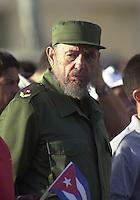 Cuban President Fidel Castro in 2003., Havana, Cuba . Credit: Jorge Rey/MediaPunch