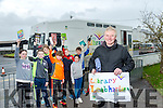 Mobile Library bus driver Timmy Carmody from Ardfert who has been coming to the School for 14 years was presented with a Thankyou gift on his retirement. Pictured here with Students from St Josephs NS, Castlemaine, Evan O'Connor, Darragh Hogan, Jack Lawlor, Shane O'Connor, Katie McCormack, John Hogan