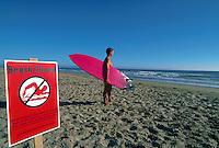 Beach closed due to contamination