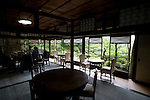 Photo shows  the tearoom on the first floor  of the Honma Museum of Art in Sakata, Yamagata Prefecture, Japan, on July 06, 2012. Construction of the first floor of the building  was started around 200 years ago as the vacation villa of the Honma family. Photographer: Robert Gilhooly
