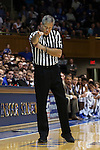 08 November 2014: Referee Tim Nestor. The Duke University Blue Devils hosted the University of Central Missouri Mules at Cameron Indoor Stadium in Durham, North Carolina in an NCAA Men's Basketball exhibition game. Duke won the game 87-47.