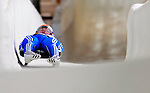 7 February 2009: Stepan Fedorov slides for Russia in the Men's Competition at the 41st FIL Luge World Championships, in Lake Placid, New York, USA. .  .Mandatory Photo Credit: Ed Wolfstein Photo