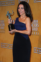 LOS ANGELES, CA - JANUARY 18: Julia Louis-Dreyfus in the press room at the 20th Annual Screen Actors Guild Awards held at The Shrine Auditorium on January 18, 2014 in Los Angeles, California. (Photo by Xavier Collin/Celebrity Monitor)