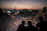 Supporters of Gen. Abdul-Fattah el-Sisi watched over a pro-military rally in Tahrir Square in Cairo.
