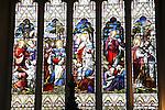 Stained Glass Window, Bath Abbey, England, UK