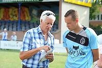 KAATSEN: LEEUWARDEN: 20-07-2014, Rengersdag, LC Journalist Gerrit Kloosterman interviewt Marten Feenstra, ©foto Martin de Jong