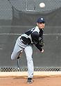 Hisashi Iwakuma (Mariners).FEBRUARY 13, 2012 - MLB : Seattle Mariners pitcher Hisashi Iwakuma of Japan throws in the bullpen during team's spring training baseball camp in Peoria, Arizona..(Photo by AFLO)