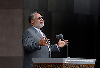Founding Director of the NMAAHC Dr. Lonnie Bunch speaks at the opening ceremony of the Smithsonian National Museum of African American History and Culture on September 24, 2016 in Washington, DC. The museum is opening thirteen years after Congress and President George W. Bush authorized its construction. <br /> Credit: Olivier Douliery / Pool via CNP / MediaPunch