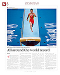 """China Daily - The Olympian"", August 14, 2008, Beijing China"