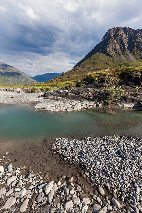Marsh Fork of the Canning river in the Arctic National Wildlife Refuge, Brooks range mountains, Alaska.