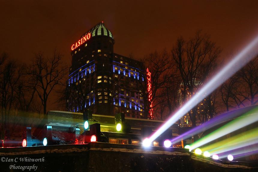 Night view of Casino Niagara