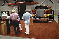 Truck week in Kansas City, Missouri. September 9, 1978. The annual truck week happened in Kansas City where truck drivers gathered from all over USA to see the new production of all truck factories around the world. They also have dance, concert, best of the show, and union meetings. Last model trucks and dreaming drivers.