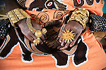 The hands of the Chief of Odumase covered with gold. The Chief of Odumase in the Brong Ahafo region was the representative of the traditional chieves of the region and met the President of Ghana, Mr Kufour, several times
