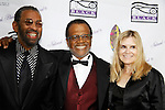 """Maurice Hines and General Hospital's Love Boat's Ted Lange """"Issac"""" with wife Mary Ley at The National Black Theatre Festival with a week of plays, workshops and much more with an opening night gala of dinner, awards presentation followed by Black Stars of the Great White Way followed by a celebrity reception. It is an International Celebration and Reunion of Spirit. (Photo by Sue Coflin/Max Photos)"""