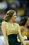 03 APR 2012: Cheerleaders from Baylor University perform during the Division I Women's Basketball Championship held at the Pepsi Center in Denver, CO. Stephen Nowland/NCAA Photos