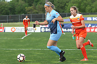Piscataway, NJ - Saturday May 20, 2017: Madison Tiernan, Cami Privett during a regular season National Women's Soccer League (NWSL) match between Sky Blue FC and the Houston Dash at Yurcak Field.  Sky Blue defeated Houston, 2-1.