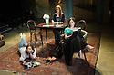 London, UK. 07.04.2014. THREE SISTERS by Anton Chekhov, opena at Southwark Playhouse. Picture shows: Holliday Grainger (Irina), Olivia Hallinan (Olga) and Emily Taaffe (Masha). Photograph © Jane Hobson.