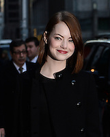 DEC 15 Emma Stone at to Late Show with David Letterman NY
