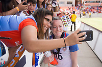 Houston, TX - April 9, 2017: The USWNT defeated Russia 5-1 at BBVA Compass stadium.