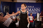Republican presidential hopeful Michele Bachmann campaigns on Sunday, July 24, 2011 in Muscatine, IA.