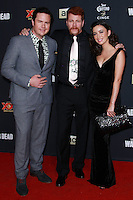 UNIVERSAL CITY, CA, USA - OCTOBER 02: Josh McDermitt, Michael Cudlitz, and Christian Serratos  arrives at the Los Angeles Premiere Of AMC's 'The Walking Dead' Season 5 held at AMC Universal City Walk on October 2, 2014 in Universal City, California, United States. (Photo by David Acosta/Celebrity Monitor)
