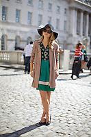 Amber Atherton at London Fashion Week