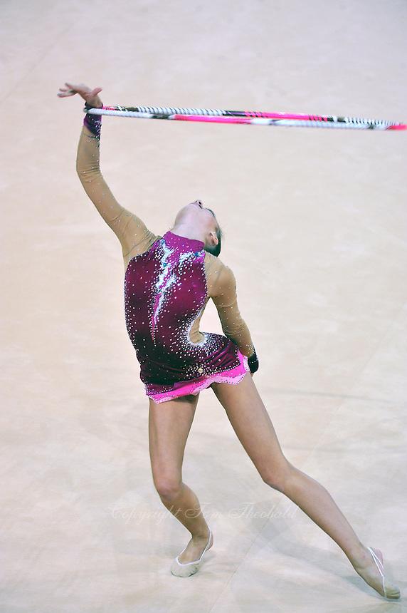 September 19, 2011; Montpellier, France;  POLINA KOZITSKIY of USA performs with hoop at 2011 World Championships Montpellier.