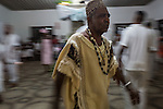 RIO DE JANEIRO, BRAZIL - JANUARY 24: Av&ocirc; de Santo, or spiritual grandfather, Luis de Omolu, leads the candomble ceremony, in Rio de Janeiro, Brazil, on Saturday, Jan. 23, 2015. Brazil's Afro-Brazilian religions which in recent years have come under increasing threats and prejudice, particularly from the growing number of evangelical churches. Candombl&eacute; originated in Salvador, Bahia at the beginning of the 19th century when enslaved Africans brought their beliefs with them. Umbanda and candombl&eacute; are Afro-Brazilian religions practiced in mostly Brazil. <br /> (Lianne Milton for the Washington Post)