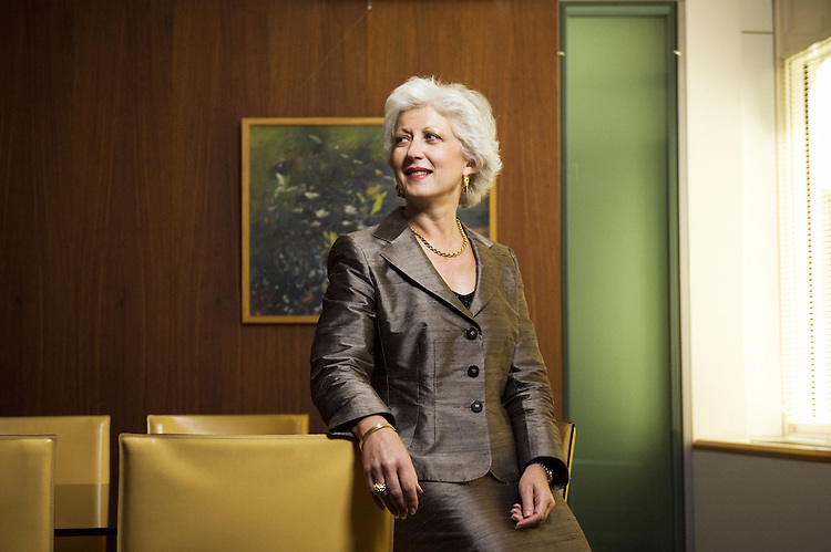 Marie-Claire Capobianco, chef private banking international BNP Paribas in the office of the bank in Paris, France. 4 June 2010. Photo : Antoine Doyen