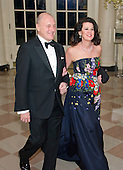 United States Ambassador to Canada Bruce Heyman and Vicki Heyman arrives for the State Dinner in honor of Prime Minister Trudeau and Mrs. Sophie Gr&eacute;goire Trudeau of Canada at the White House in Washington, DC on Thursday, March 10, 2016.<br /> Credit: Ron Sachs / Pool via CNP