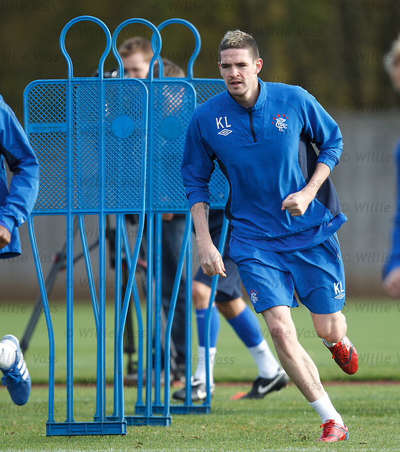 Kyle Lafferty with sleeves rolled up ready for Euro combat