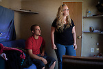 Travis Linton and Lindsey Dean moved from Kansas to Crystal City, Texas when Travis's father got a job working in the oil fields of south Texas. October 2, 2012. Copyright Lance Rosenfield/Prime