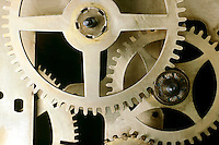 BRASS CLOCK GEARS<br /> A Gear Is A Rotating Machine<br /> Showing the winding system
