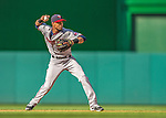 8 June 2013: Minnesota Twins infielder Pedro Florimon in action against the Washington Nationals at Nationals Park in Washington, DC. The Twins edged out the Nationals 4-3 in 11 innings. Mandatory Credit: Ed Wolfstein Photo *** RAW (NEF) Image File Available ***