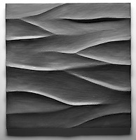 Giovanni Barbieri 24x24 inch Boreal carved tile in Iron Grey.