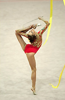 Oct 01, 2000; SYDNEY, AUSTRALIA:<br /> Elena Vitrichenko of Ukraine performs with ribbon during All-Around final at 2000 Summer Olympics. Elena took 4th AA.
