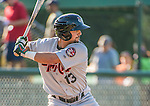 1 September 2014: Tri-City ValleyCats infielder Alex Hernandez in action against the Vermont Lake Monsters at Centennial Field in Burlington, Vermont. The ValleyCats defeated the Lake Monsters 3-2 in NY Penn League play. Mandatory Credit: Ed Wolfstein Photo *** RAW Image File Available ****