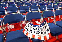 The floor of the 2004 Republican National convention at Madison Square Garden in New York City.