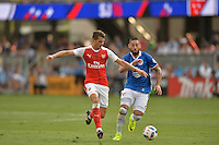 San Jose, CA - Thursday July 28, 2016: Arsenal FC, Clint Dempsey during a Major League Soccer All-Star Game match between MLS All-Stars and Arsenal FC at Avaya Stadium.