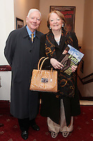 """NO REPRO FEE. 17/1/2010. The Field opening night. Gay Byrne and Kathleen Watkins are pictured at the Olympia Theatre for the opening night of John B Keanes 'The Field"""" Picture James Horan/Collins"""