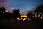 Dusk at the Holiday Around the World Celebration in Sun City, Az  at the Lakeview Recreation Center December 10, 2010...2010 marks the 50th anniversary of Sun City, America's first retirement city that remains the largest today with more than 40,000 residents 55 and older.
