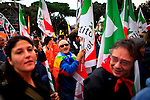 ITALY, ROME, November 5, 2011.A man shouts slogans as he takes part in a rally against the government of Italian Prime Minister Silvio Berlusconi in Rome November 5, 2011. VIEWpress / Eduardo Munoz Alvarez.Italy's P.M. Berlusconi resigned on Saturday after new budget law is approved in parliament. The approval of the package will mark the final of the Berlusconi government..Local Media Report