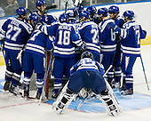 - The Yale University Bulldogs defeated the Air Force Academy Falcons 2-1 (OT) in their East Regional Semi-Final matchup on Friday, March 25, 2011, at Webster Bank Arena at Harbor Yard in Bridgeport, Connecticut.