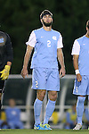 08 October 2013: North Carolina's Jonathan Campbell. The University of North Carolina Tar Heels hosted the Clemson University Tigers at Fetzer Field in Chapel Hill, NC in a 2013 NCAA Division I Men's Soccer match. Clemson won the game 2-1 in overtime.